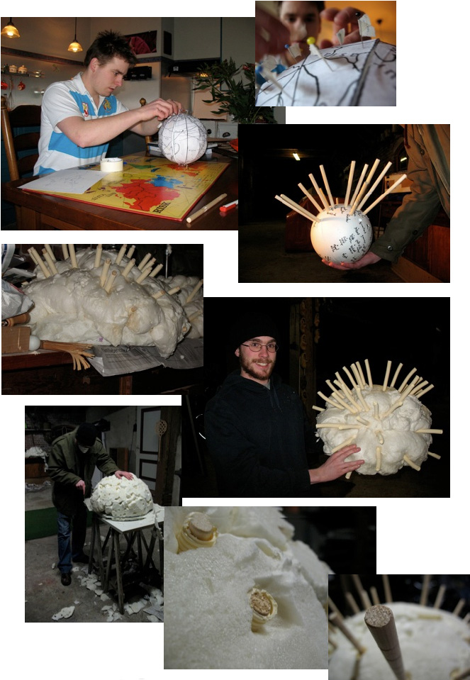 The whole process of making the globe